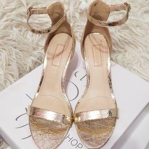 Topshop Row Gold heel